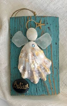 Excited to share the latest addition to my shop: Angel ornament Driftwood angel/seaglass angel/shell angel/faith angel/ faith shell crafts Beach Crafts, Fun Crafts, Arts And Crafts, Sea Glass Crafts, Sea Glass Art, Crafts With Seashells, Seashell Crafts Kids, Sea Glass Decor, Deco Marine