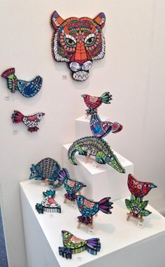 Best 12 We've just received a delivery of work from Amanda Anderson who works under the name Wigwam Arts. Amanda is a… – SkillOfKing. Mosaic Diy, Mosaic Crafts, Mosaic Projects, Mosaic Glass, Glass Art, Stained Glass, Mosaic Animals, Mosaic Birds, Mosaic Designs