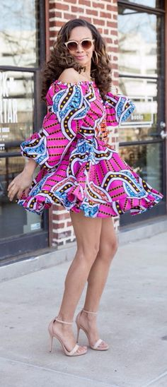 45 Fashionable African Dresses Discover the hottest ankara African dresses you need this season. Everything from peplum, bubble sleeves, and flare to mixed African print. This season's hottest styles & where to get them are in one convenient post. African Dresses For Women, African Print Dresses, African Wear, African Clothes, African Prints, African Women, Ghanaian Fashion, Nigerian Fashion, African Fashion