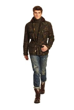 Куртка пилот с капюшоном покрытие наполан