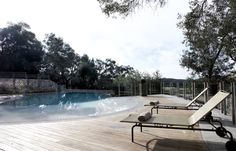 The pool of the Torri e Merli is the perfect spot for a relaxing swim and for enjoying the morning breakfast.
