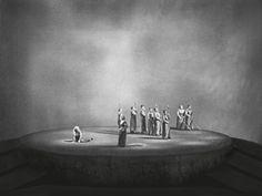 """"""" Die Walküre """" 3.Aufzug 1954 Wieland Wagner Bühnenphoto"""