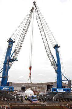 Liebherr - two LHM 600 mobile harbour cranes