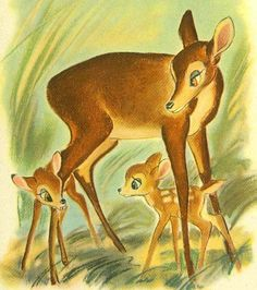 1941 1st Ed Walt Disney's Bambi w/ Lithograph Illustrations SCARCE / Felix Salten / Vintage /  Art