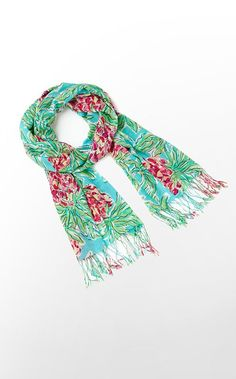 Murfee Scarf in Shorely Blue Spike The Punch $118 (w/o 1/26/13) #lillypulitzer #fashion #style