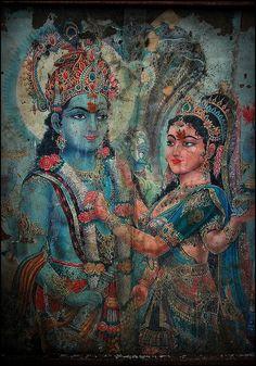 Krishna and Radha vishnu Lakshmi Krishna Leela, Krishna Radha, Hare Krishna, Radha Rani, Hindus, Indiana, Lord Krishna Images, Shiva Shakti, Hindu Deities