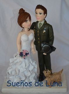 Figures for cold porcelain wedding cakes, custom, from. Cold Porcelain, Special Day, Wedding Cakes, Memories, Disney Princess, Hair Styles, Handmade, Clothes, Personalized Wedding