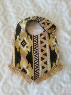 Aztec Fringe Bib, Baby Boho Bib