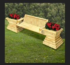 Bench with flowers