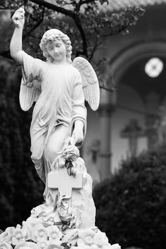 Angel, Statue, Black And White, Prints, Canvas, Products, The Hague, Art Print, Wall Canvas
