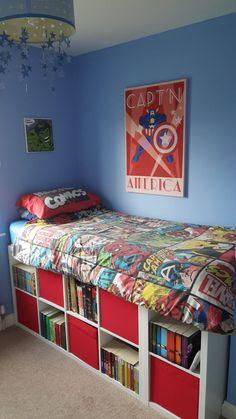 Ikea kallax single bed hack boys room в 2019 г. Murphy-bett Ikea, Ikea Bed, Ikea Kallax, Diy Bett, Modern Murphy Beds, Murphy Bed Plans, Decorate Your Room, Interior Design Living Room, Bed Ideas