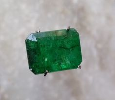 4.85 TCW Octagon Faceted Cut Natural Zambian Emerald 11.40x8.70mm Loose Gemstone #BilalGems