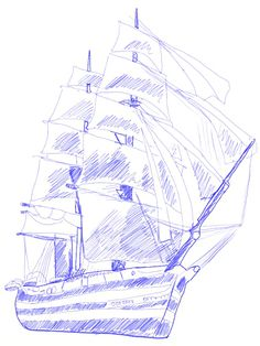 How to draw a Ship, step 7