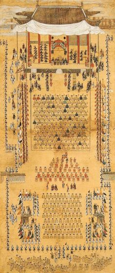 화성능행도 8폭 병풍, King Jung-jo's royal procession to Hwasung, Korea
