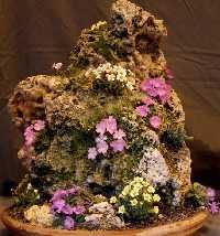 hypertufa rock - use leftovers to make a rock with plenty of recesses for planting
