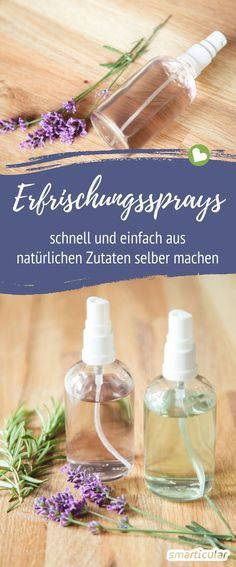 Without garbage and preservatives: refreshing spray itself .- Ohne Müll und Konservierungsstoffe: Erfrischungsspray selber machen Refreshing spray you can easily make yourself! This saves waste and you care for the skin with natural ingredients. Natural Makeup Looks, Natural Make Up, Perfume Vintage, Makeup Tips, Eye Makeup, Makeup Tutorials, Natural Cosmetics, Diy Hairstyles, Deodorant