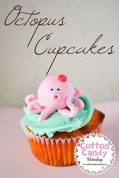 Octopus cupcakes. Future birthday?? Or some occasion because these are darn cute!