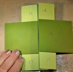 Ink Stains: Never Ending Card Instructions Card Making Tips, Card Making Tutorials, Card Making Techniques, Mini Album Scrap, Mini Albums, Fancy Fold Cards, Folded Cards, Scrapbook Cards, Scrapbooking