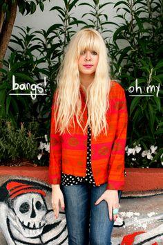 vintage orange/pink blazer  |  Designlovefest