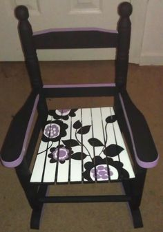 childrens rocking chair painted - Google Search