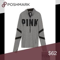 Ultimate Deep Zip Slim fit Deep zip Print graphics Premium stretch fabric that smooths and flatters Thumbholes Imported polyester/spandex. Firm on price. No trades. PINK Victoria's Secret Tops Sweatshirts & Hoodies