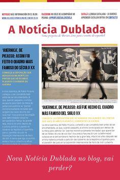 Nova Notícia Dublada no meu blog: http://aulasdeespanholonline.com.br/blog/noticia-dublada-el-guernika-de-picasso #notícias #espanhol #noticia #español #audio #nativo