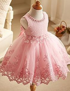Comprar Toddler Baby Girl Princess tutu Dress Flower Lace Princess Bridemaid Dress For Wedding or Party em Wish - Comprar ficou mais divertido Baby Girl Birthday Dress, Girls Baptism Dress, Girls Lace Dress, Birthday Dresses, Little Girl Dresses, Baby Dress, Girls Dresses, Dress Lace, Baby Tutu