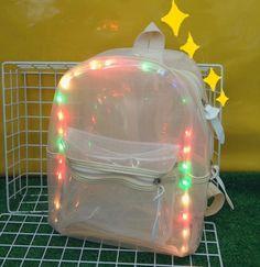www.sanrense.com - Kawaii students LED lighting transparent backpack SE8024