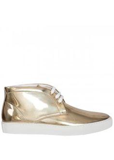 Comme de Garçons Patent Mid Shoe in Gold