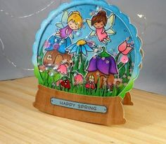 Sparkle Fairy Friends Snowglobe Card