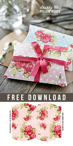 Free Shabby Chic Pillow Boxes by Live Laugh Rowe