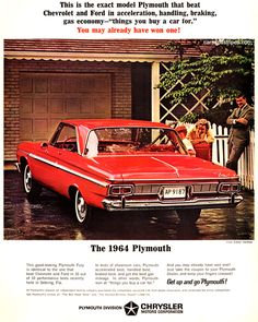 1964 Plymouth Fury -This is the exact model - Original Ad
