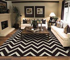 New Chevron 2x8 Runner Rug ZigZag Runners Black and White 2x7 Area Rugs Zig Zag Floor Carpet