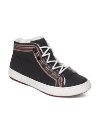 roxy, Mila Lace-Up Mid Top Shoes, BLACK (bl0)