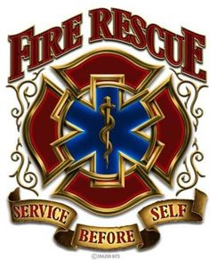 "Fire Rescue Service Before Self Reflective 4"" Automotive Window Decal"