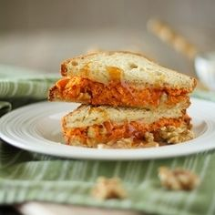 Here is a sneaky way to include vegetables in the kiddos' favorite sandwich: Sweet Potato Grilled Cheese. - KS