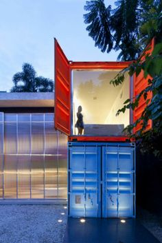 Daily Pictures: Shipping Container House in Sao Paulo, Brazil by Marcio Kogan