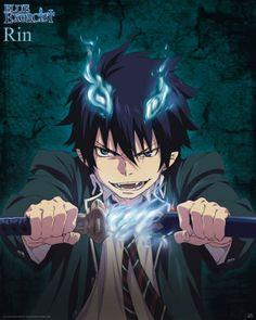 Poster affiche Blue Exorcist Rin ... This became my new phone background ^_^