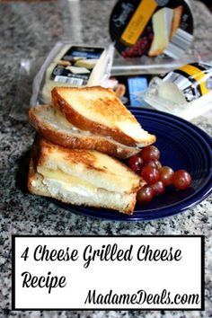 4 Cheese Grilled Cheese Easy Recipe made with ingredients from ALDI