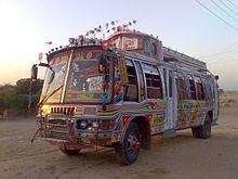 A traditional Pakistani bus, now only found in rural areas.