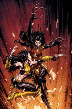 X-23 vs. Lady Deathstrike - by David Finch...would love this framed in my house