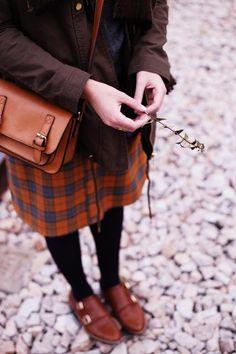 #tartan #plaid #orange love the shoes and bag