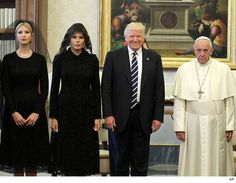 Donald Trump Meets Pope Francis, Smiley Face, Frowny Face