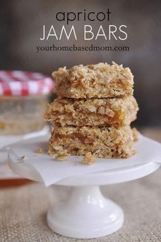 apricot jam bars  www.yourhomebasedmom.com  #cookies and #bar cookies