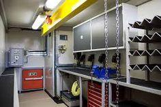 Resultado de imagem para container on beams Shipping Container Sheds, Container Office, Beams, Workshop, House, Furniture, Image, Home Decor, Inspiration