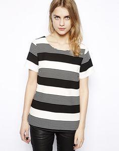 New Look Stripe Print Boxy Tee