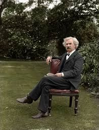 Adventures of Mark Twain: Twain served for two weeks in the Confederate Army and attained the rank of 2nd Lieutenant before deserting. (colourized photo)