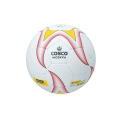 Product Description  The Cosco Moskva Football Special Cosflex material for high durability and lively rebound.  Features  Synthetic Hand Sewn Ball.  Special Cosflex material for high durability  and lively rebound.  Excellent shape retention & exceptional performance.  Fitted with latex bladder.