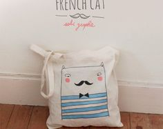 """Tote Bag """"French cat"""""""
