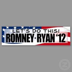 Let's Do This! Romney/Ryan 2012 Bumper Sticker